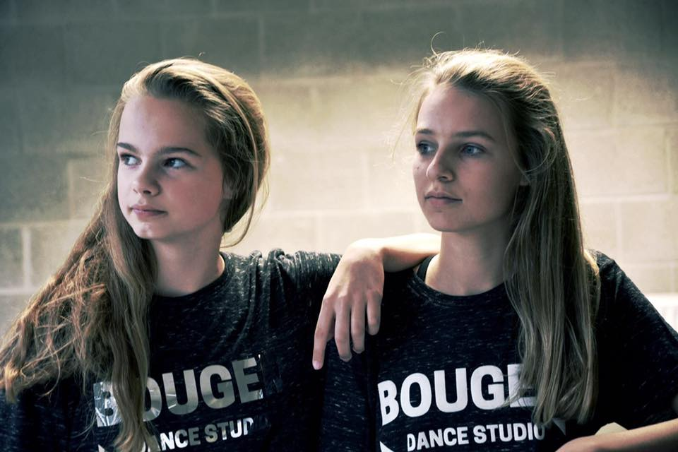 Zwarte t-shirt zilver opdruk BOUGER DANCE STUDIO (nr 43/2)