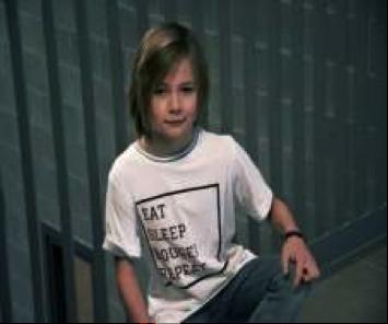 Wit t-shirt grijze mouwen kids (nr. 61)